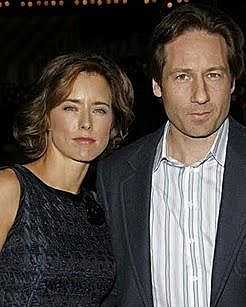 how did tea leoni and david duchovny meet