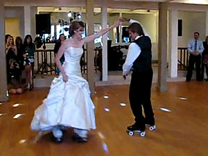 Father-Daughter Roller Skates Wedding Dance (VIDEO)
