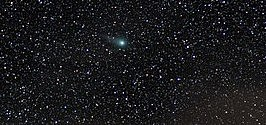 Comet in a night time scene. The Christmas star?
