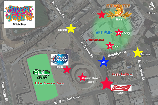 Street Festival Streetfest Stage Map 2016