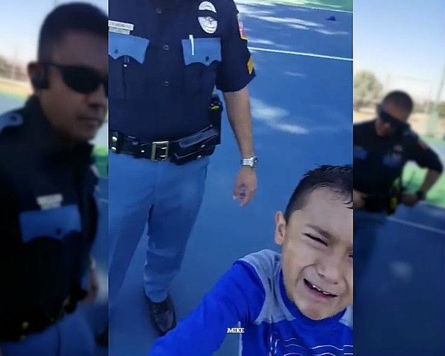EP officer kid cry