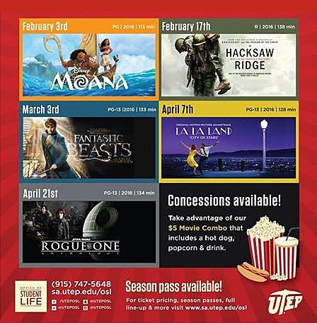 UTEP Friday Flicks poster