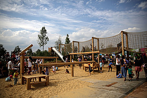 Queen Elizabeth Olympic Park Opens A Year Since The Opening Ceremony