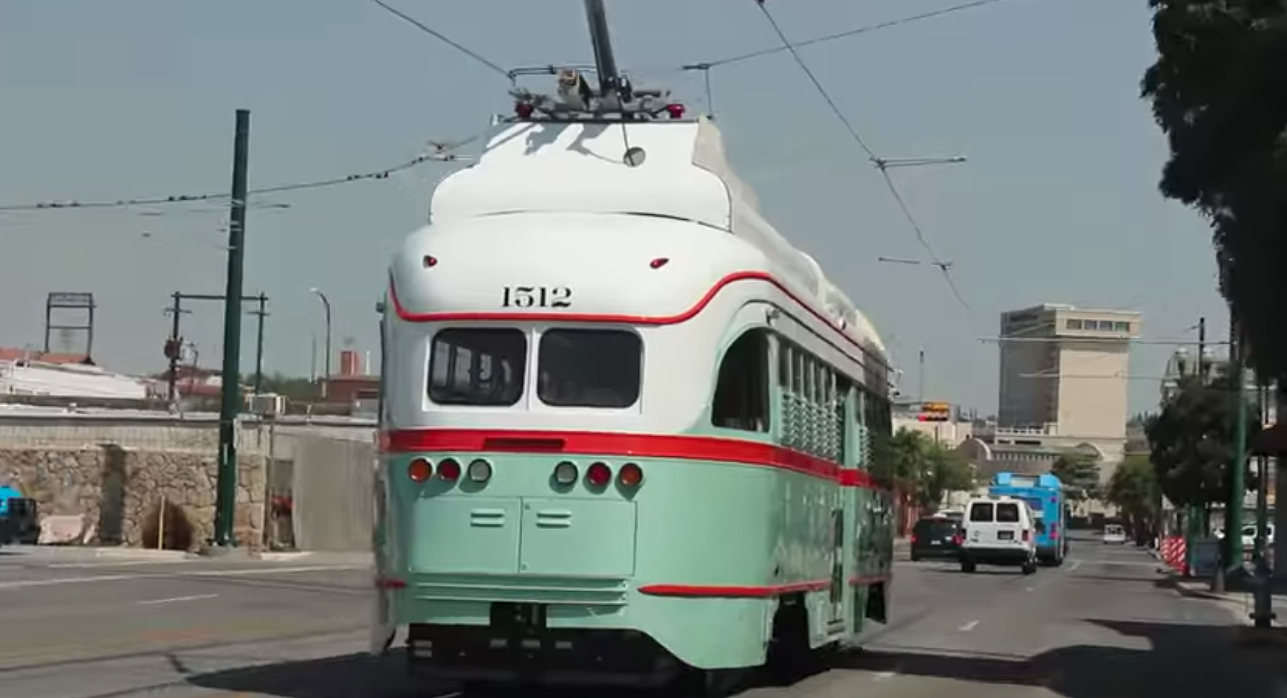 First Look At The Trolley In Downtown El Paso Traffic [VIDEO]